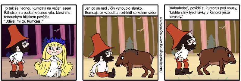 comics: Rumcajs a lysohlávky